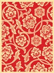 obey_print_flowervine_red