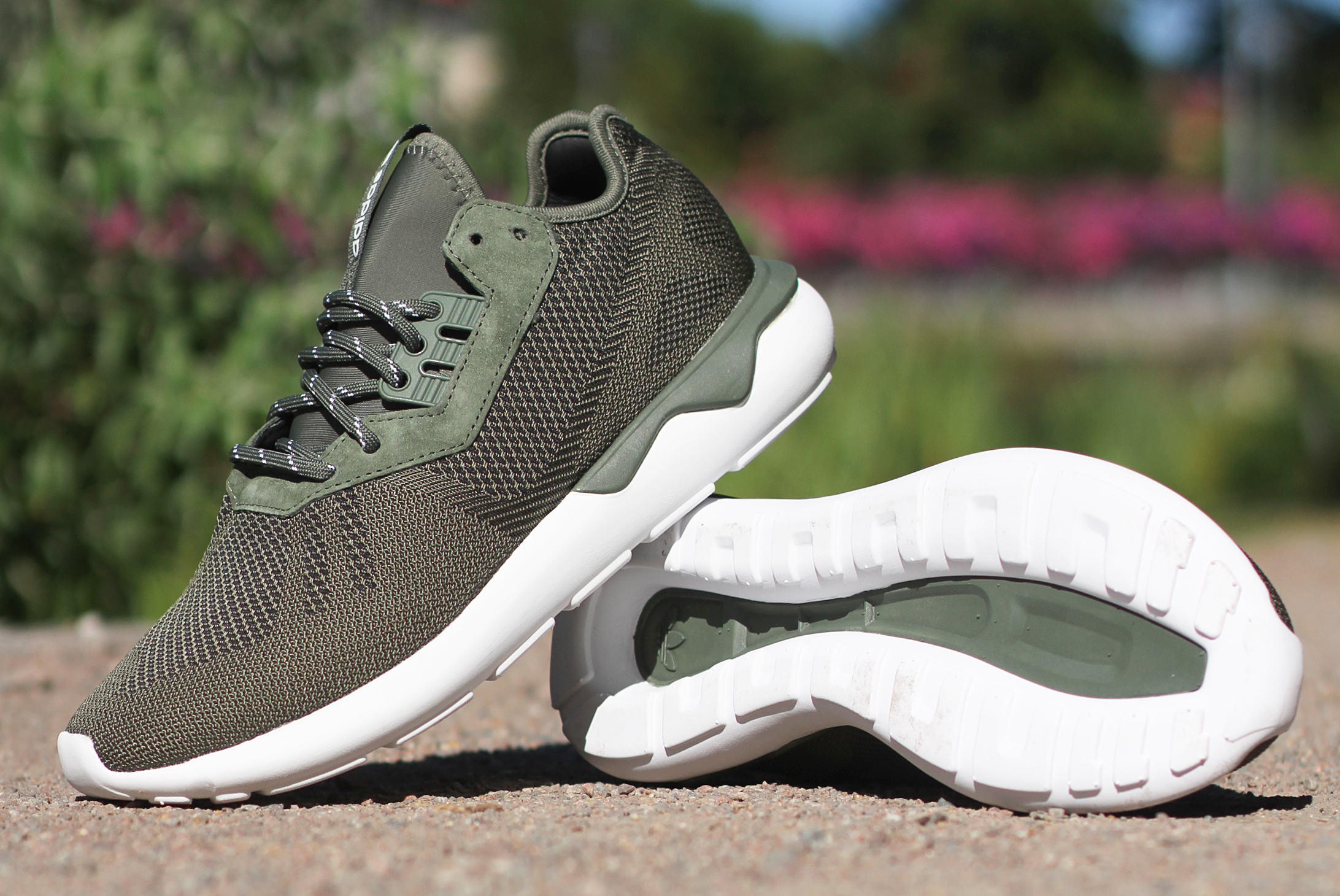 adidas tubular runner groen